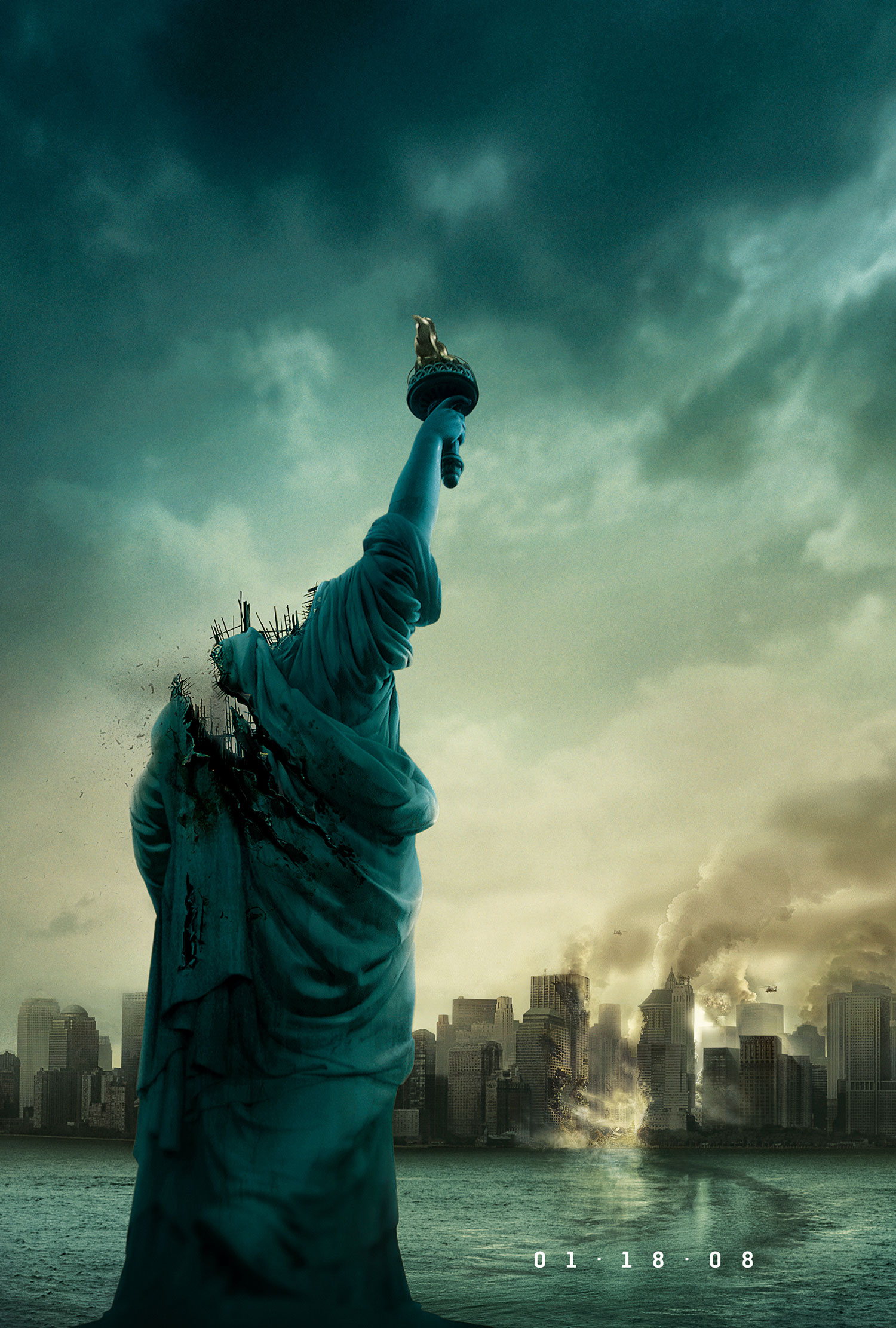 1.18.08 movie poster JJ Abrams untitled monster movie Cloverfield